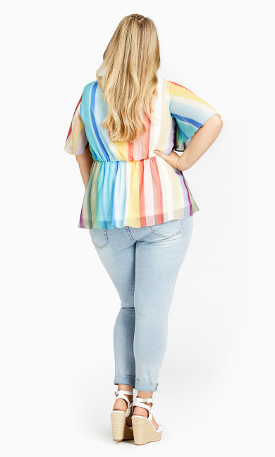 Sunset Stripe Top - sunset