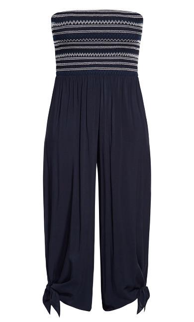 Stitched Jumpsuit - navy