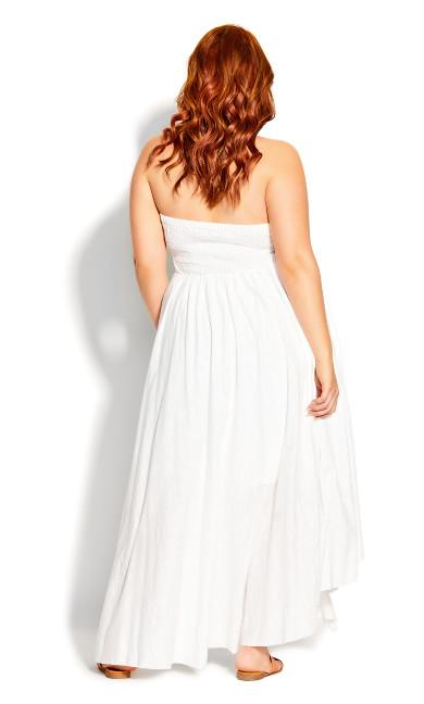 Plait Detail Maxi Dress - ivory