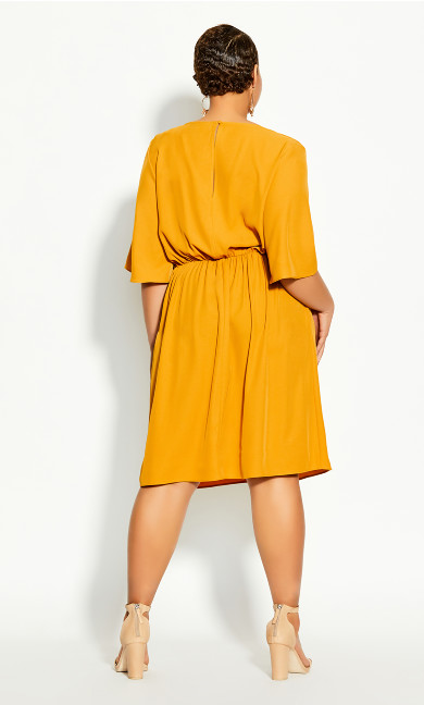 Knot Front Dress - gold