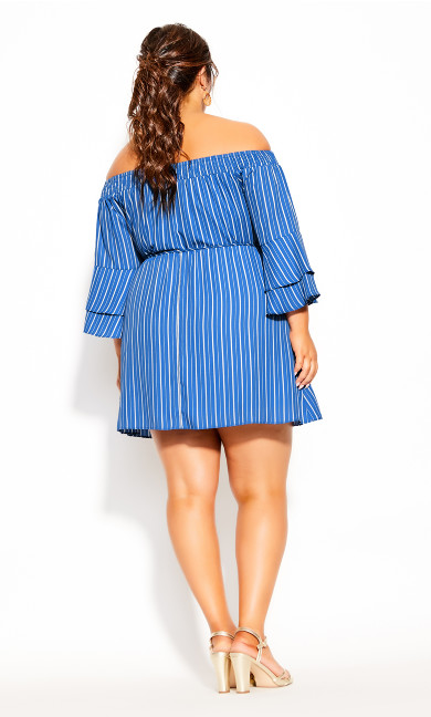 Sunshine Stripe Dress - blue