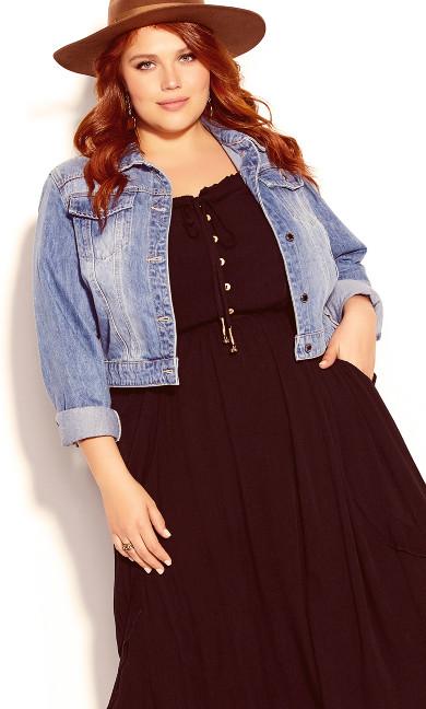 Plus Size Lost Angel Maxi Dress - black