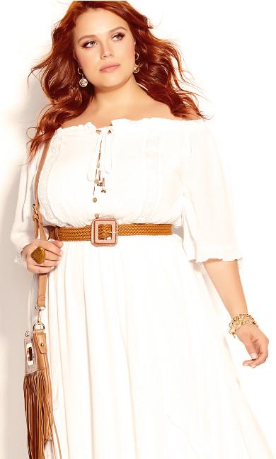 Plus Size Lost Angel Maxi Dress - ivory