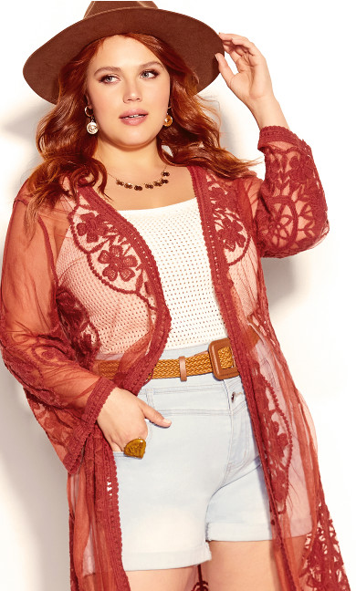 Plus Size Lost Angel Jacket - bronze