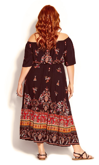 Boho Angel Maxi Dress - black