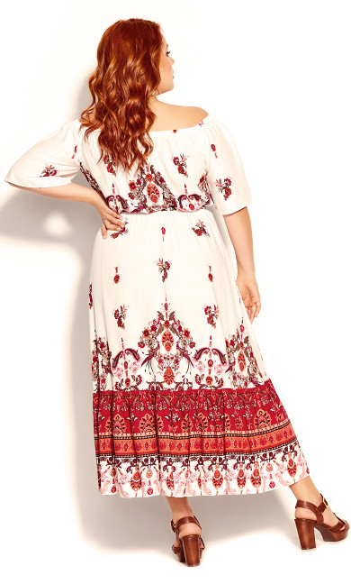 Boho Angel Maxi Dress - ivory