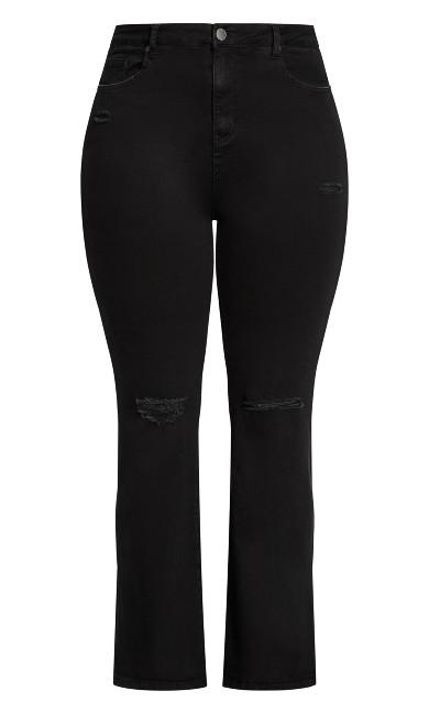 Harley Rip Flare Jean - black