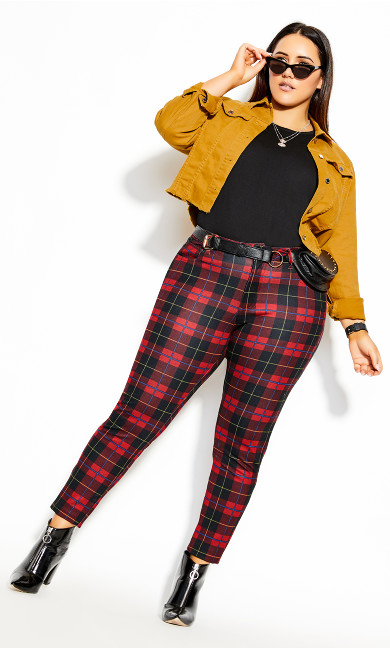 Plus Size London Pant - red