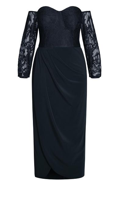 Romantic Rosa Maxi Dress - navy