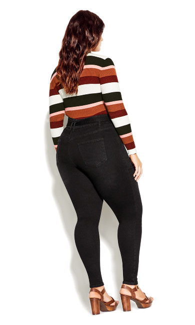 Harley Hi Waist Skinny Jean - black