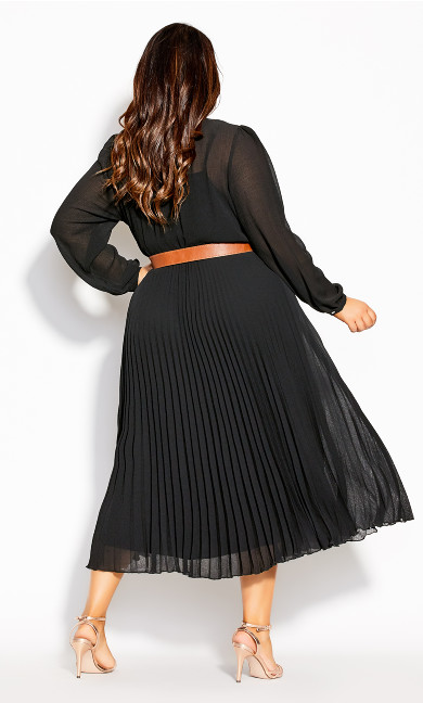 Love Pleat Dress - black
