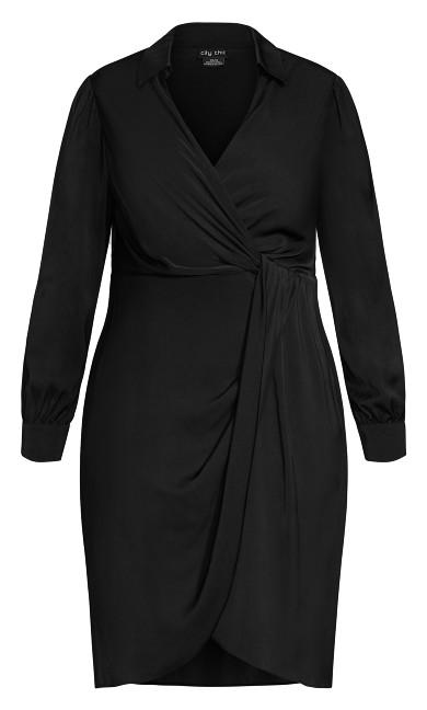 Collared Love Dress - black