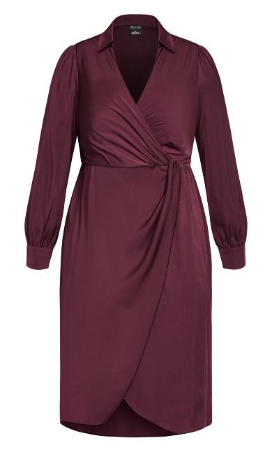 Collared Love Dress - plum