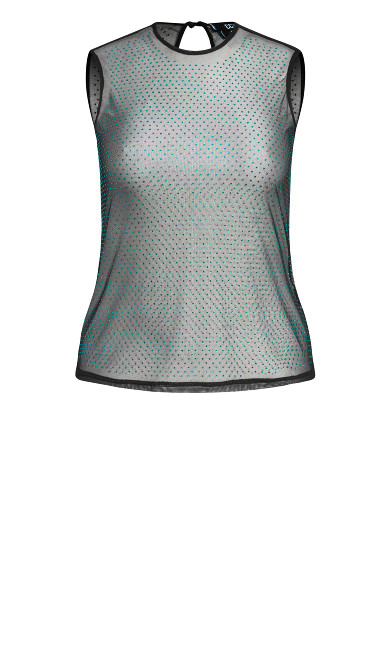 Studded Lace Top - emerald