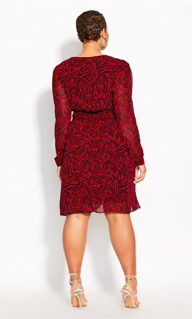 Crimson Tiger Dress - crimson