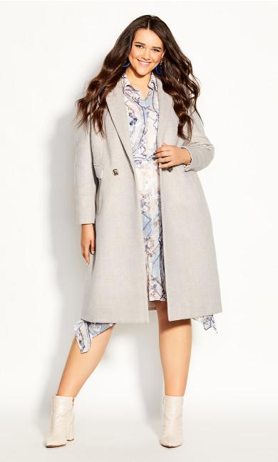 Plus Size Luxe Lover Wool Blend Coat - beige