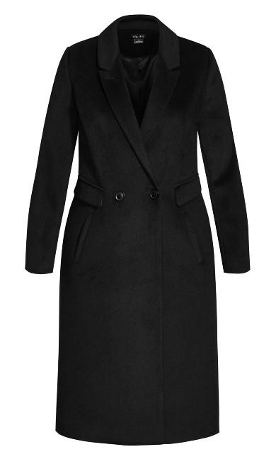 Luxe Lover Wool Blend Coat - black
