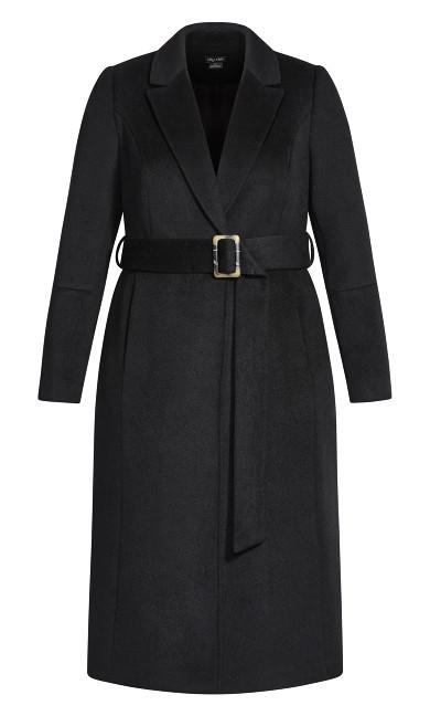 Belissima Wool Blend Coat - black