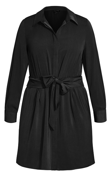 Tie Detail Dress - black