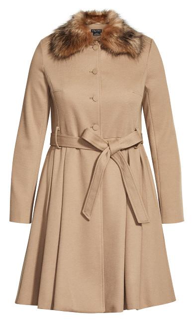Blushing Belle Coat - taupe
