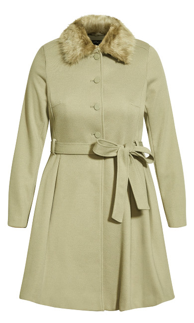 Blushing Belle Coat - winter pear
