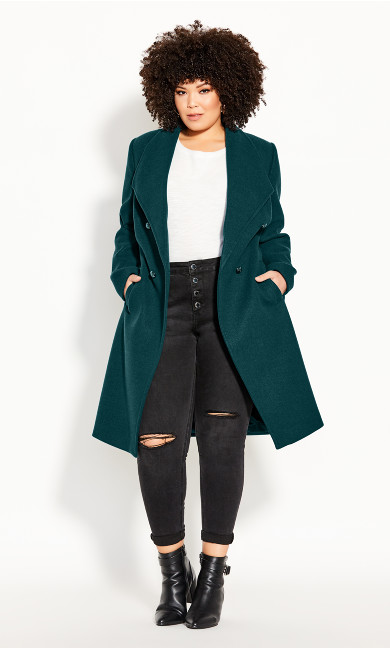 Sassy Military Coat - alpine