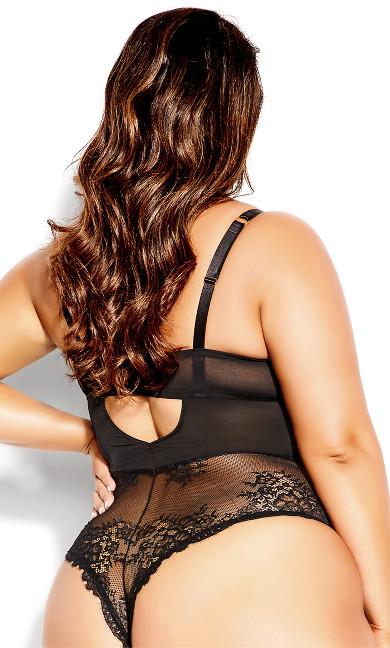 Abbie Underwire Bodysuit - black