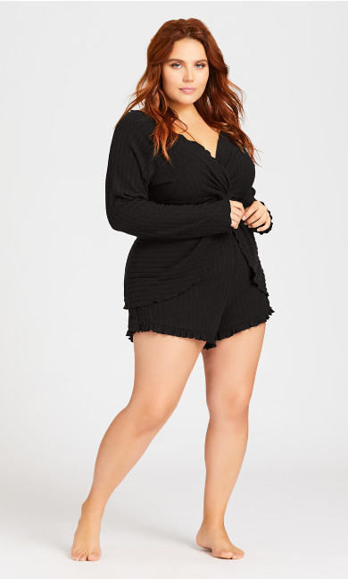 Plus Size Ella Sleep Short - black