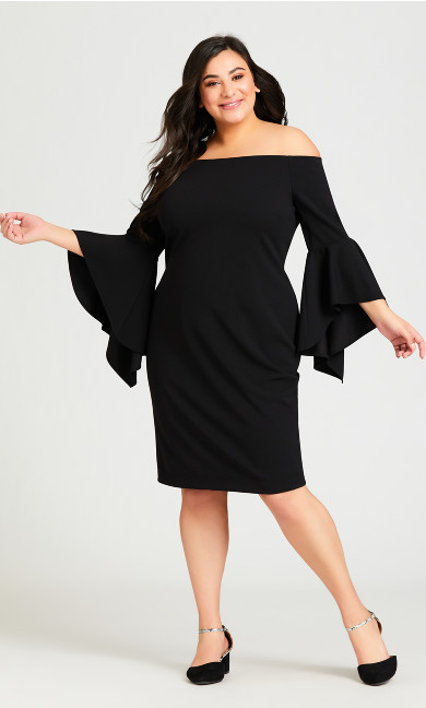 Plus Size Fiona Dress - black