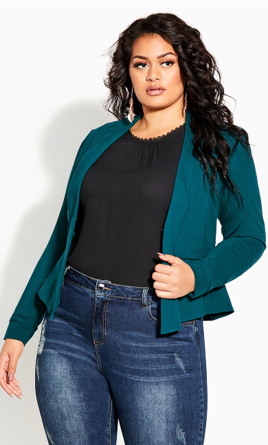 Piping Praise Jacket - teal