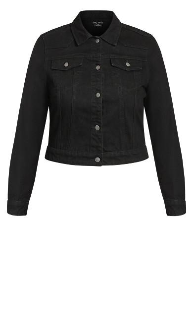 Classic Denim Jacket - black
