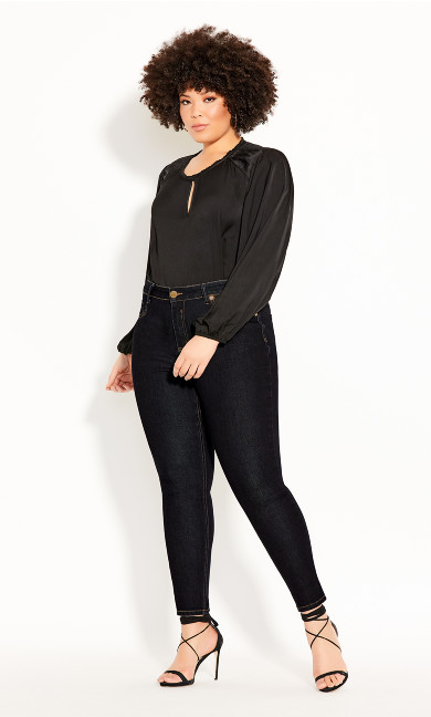 Plus Size Asha Chic Skinny Jean - indigo