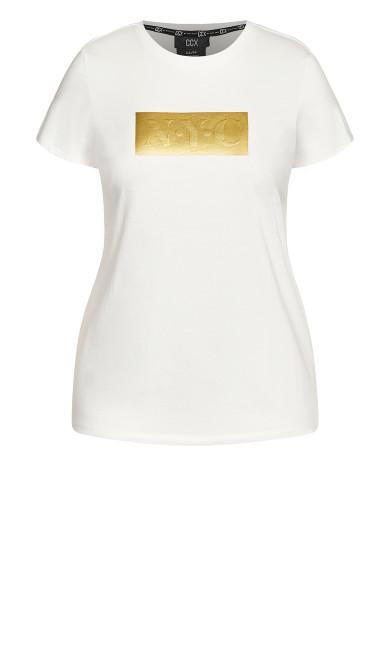 Gold NYC Tee - ivory