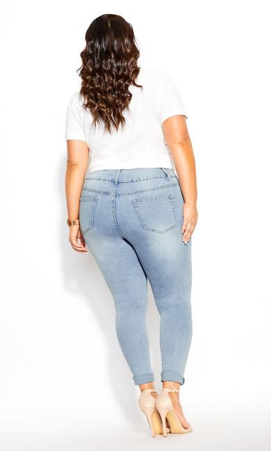 Asha Slash Skinny Jean - sky