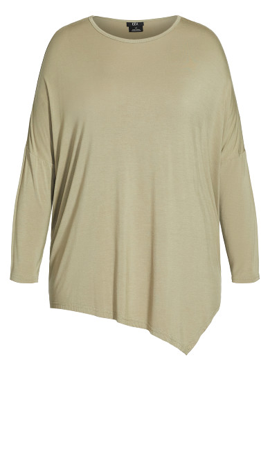Simple Batwing Top - olive