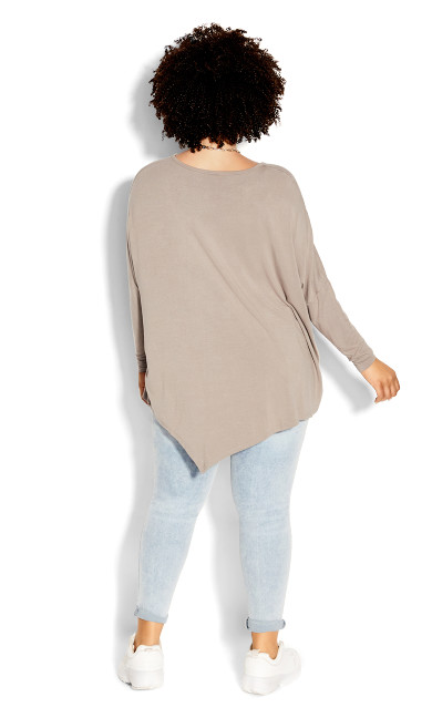 Simple Batwing Top - sand