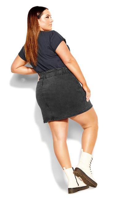 Paperbag Waist Skirt - black