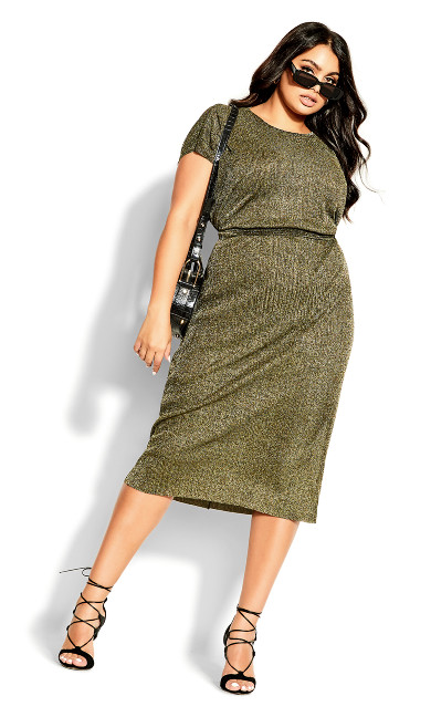 Luxe Shine Dress - gold