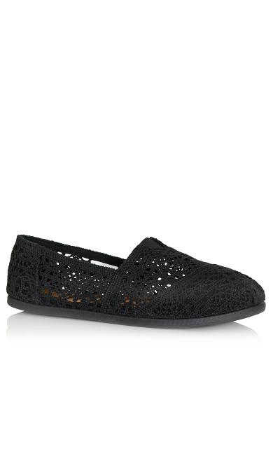 Plus Size Halley Espadrille - black