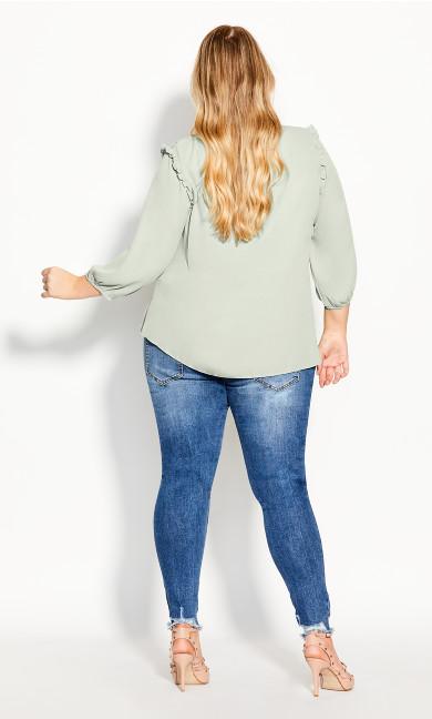 Lace Angel Elbow Sleeve Top - dewkist