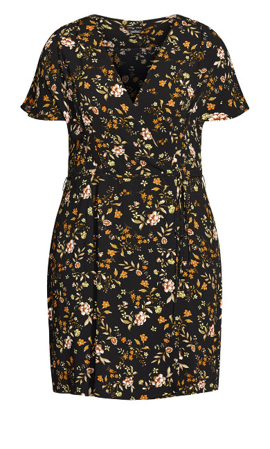Autumn Ditsy Dress - black