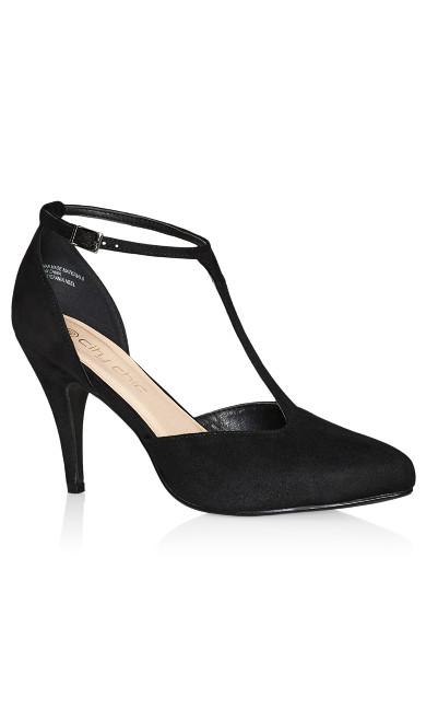 Plus Size Stefania Heel - black