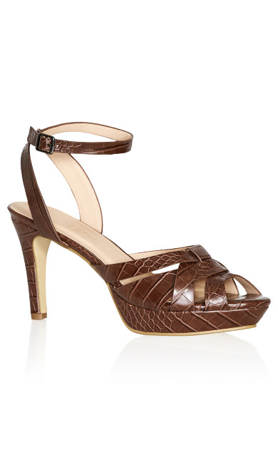 Caselli Heel - dark chocolate
