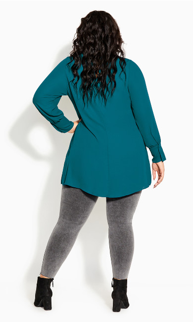 Neck Tie Tunic - teal