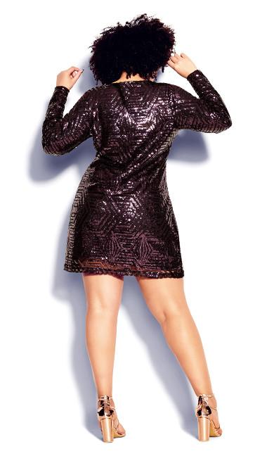 Bright Lights Dress - royal purple