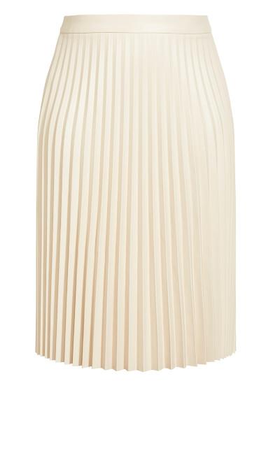 Pleated Nights Skirt - pearl