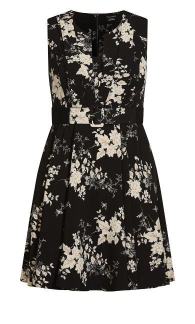 Mini Bouquet Dress - black