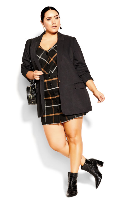 Upper East Dress - toffee check