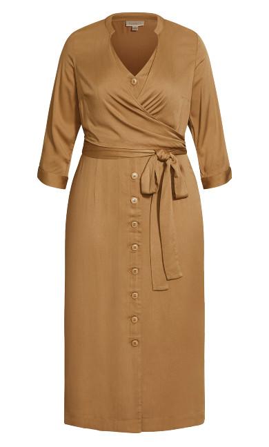 Softly Wrapped Dress - fudge