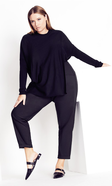 Double Take Jumper - black